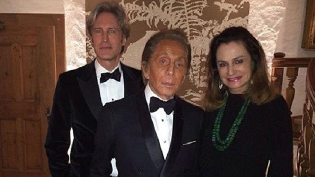 Valentino, el diseñador del traje de novia, fue uno de los invitados
