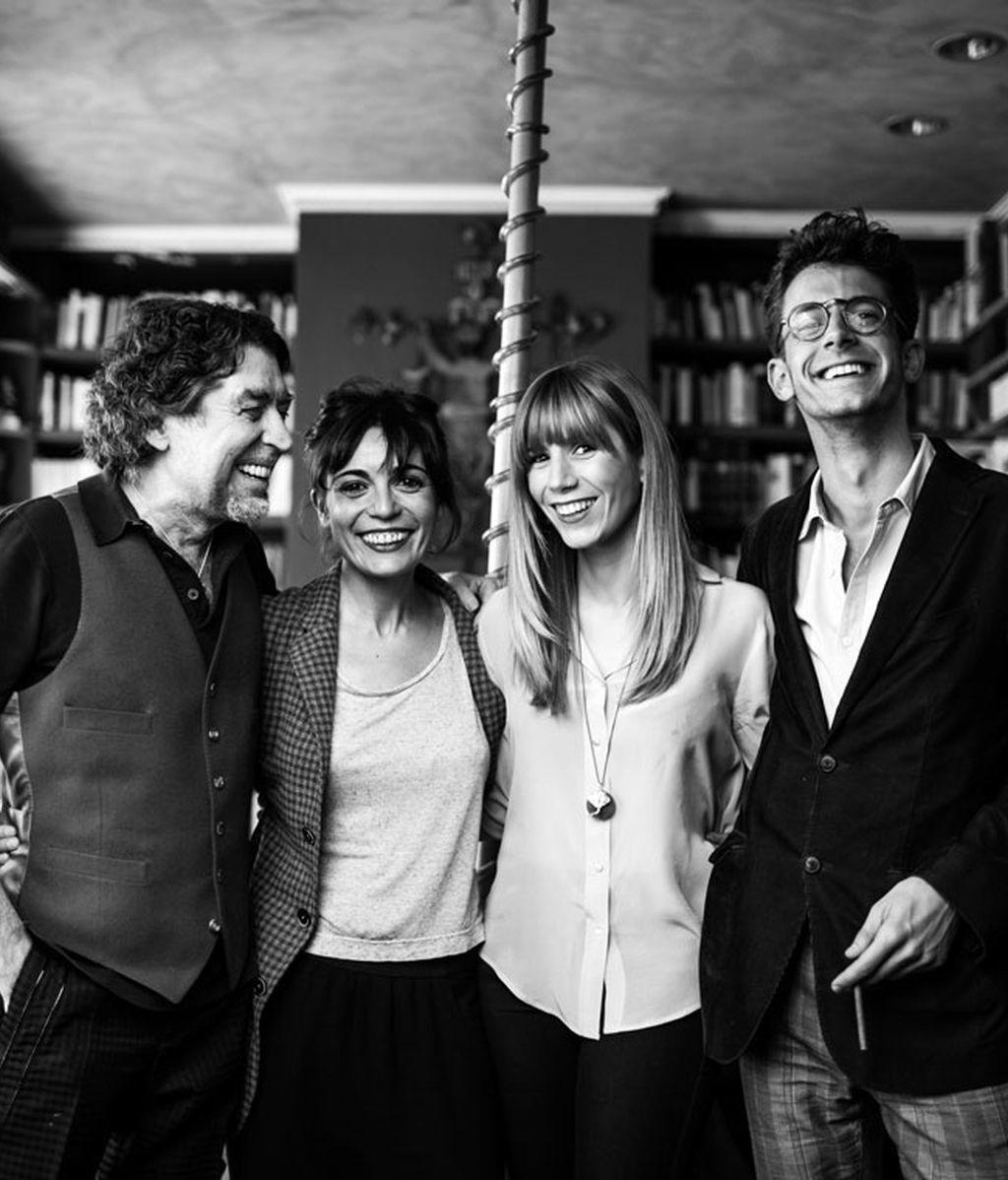 Sabina, María Ballesteros, Carmela y Félix Tusell