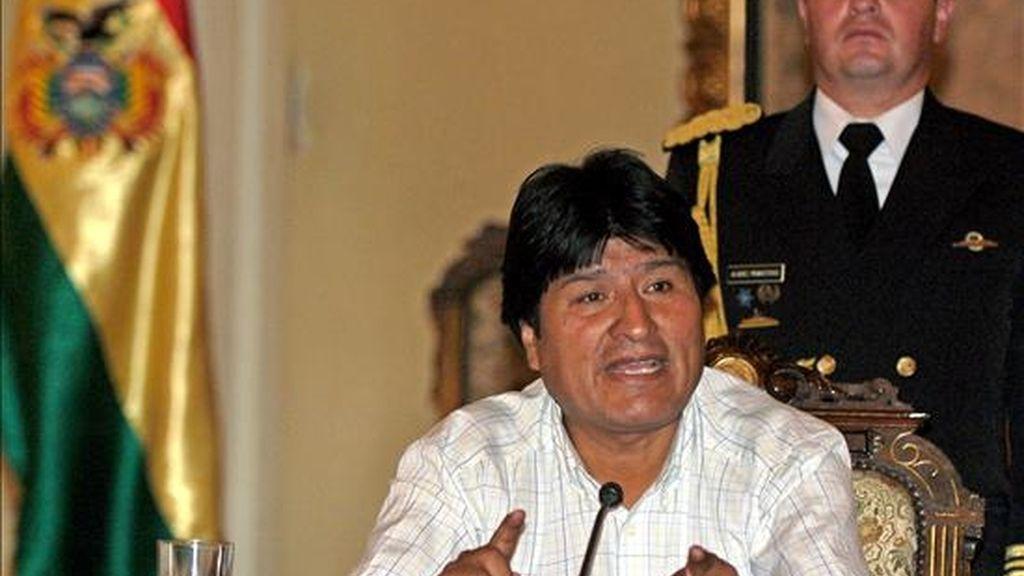 """El mandatario boliviano sostuvo hoy que uno de los avances más importantes en la agenda es """"que hay un debate en Chile"""" sobre diferentes opciones para resolver el asunto. EFE/Archivo"""