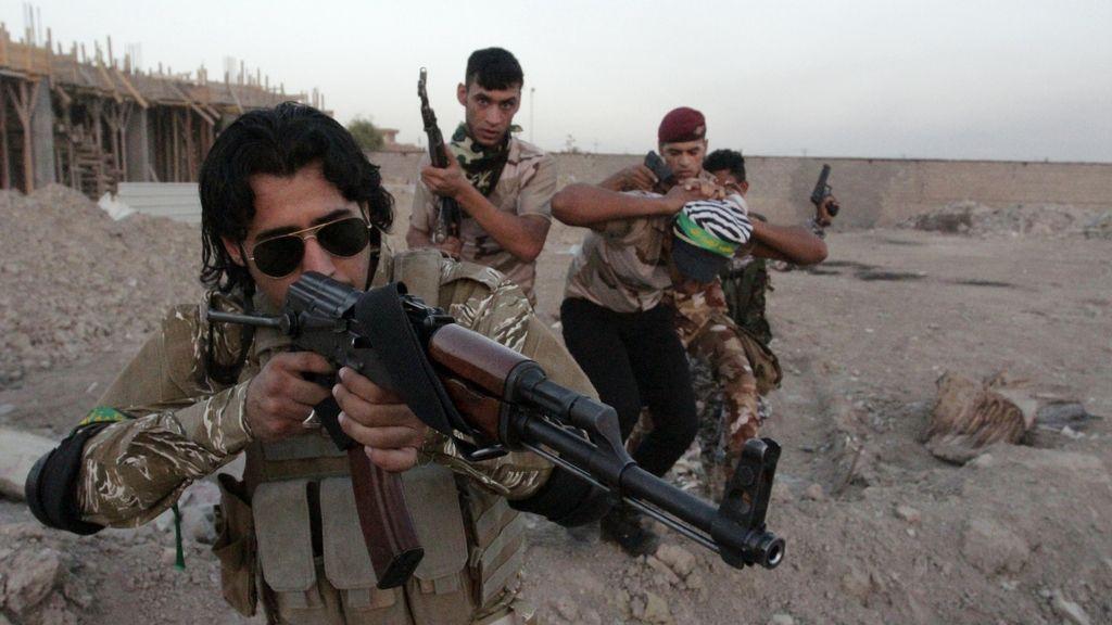 Voluntarios chiíes del ejército iraquí