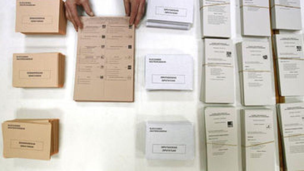 Papeletas de las elecciones