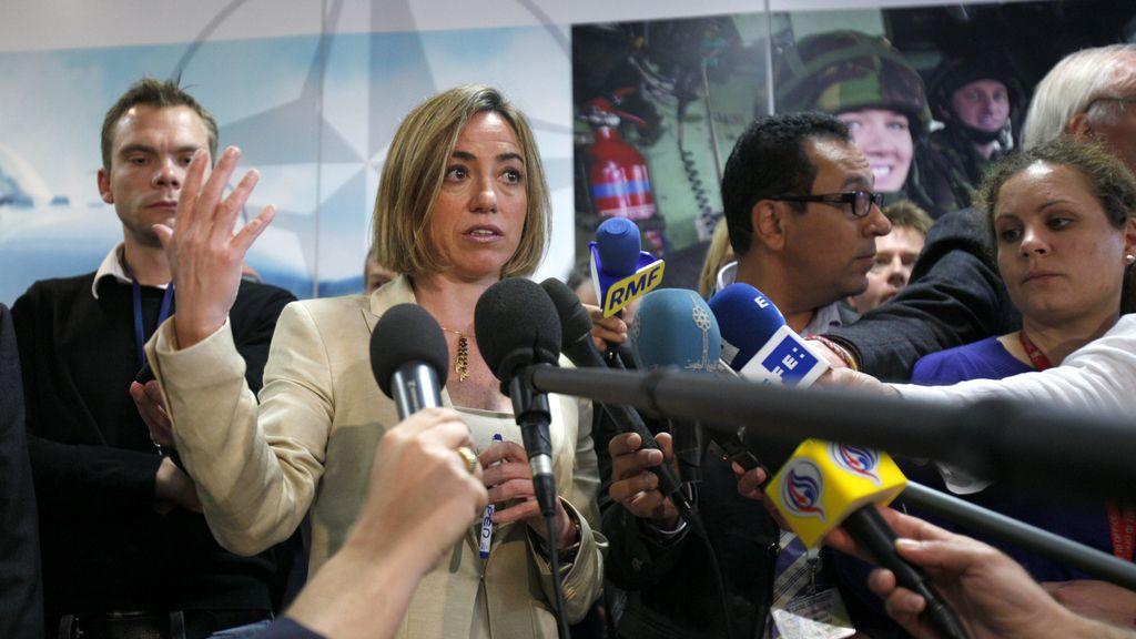 Imagen de archivo de la ministra de Defensa y cabeza de lista del PSC por Barcelona en las generales, Carme Chacón