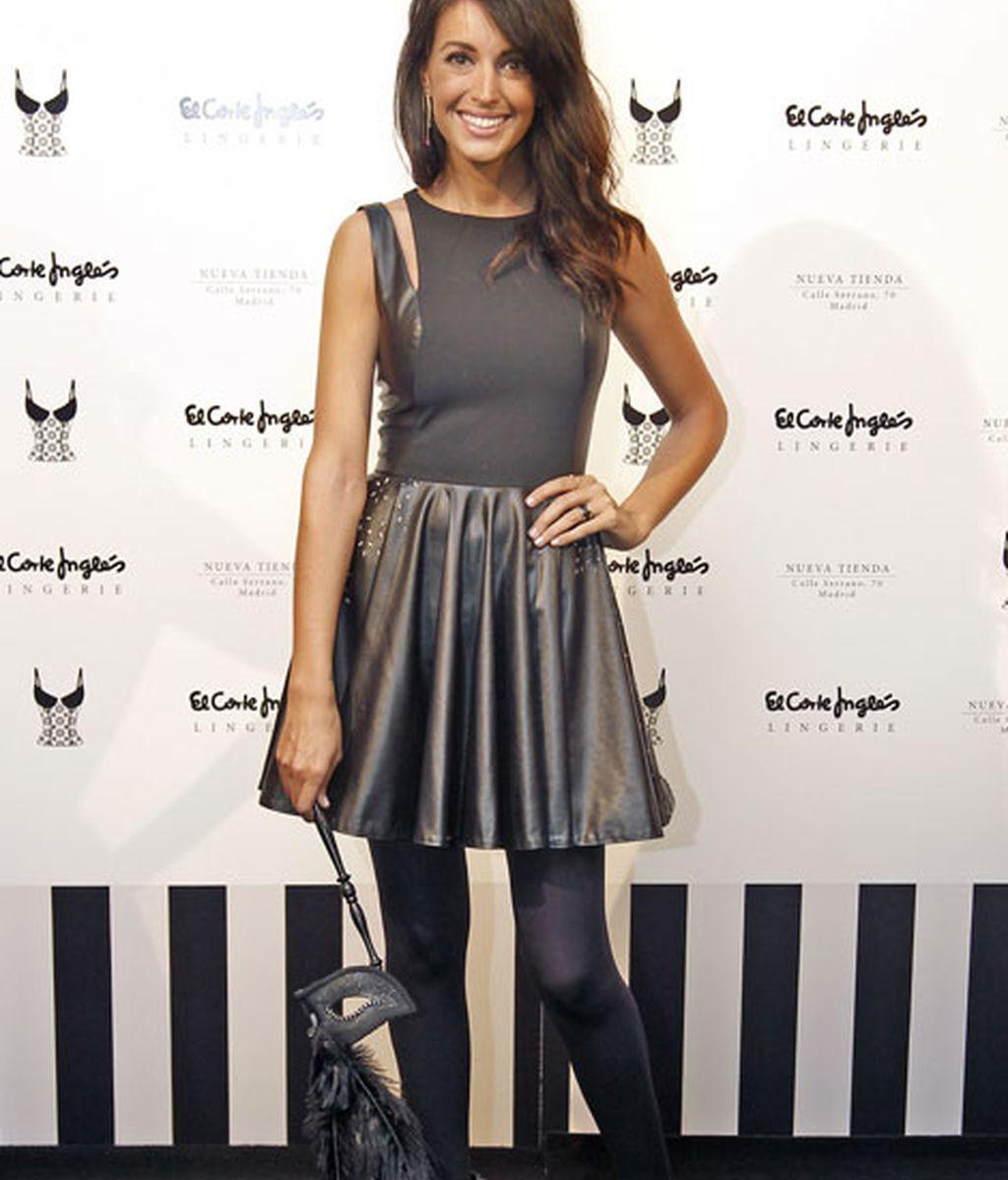 Noelia López en la inauguración de 'Lingerie'
