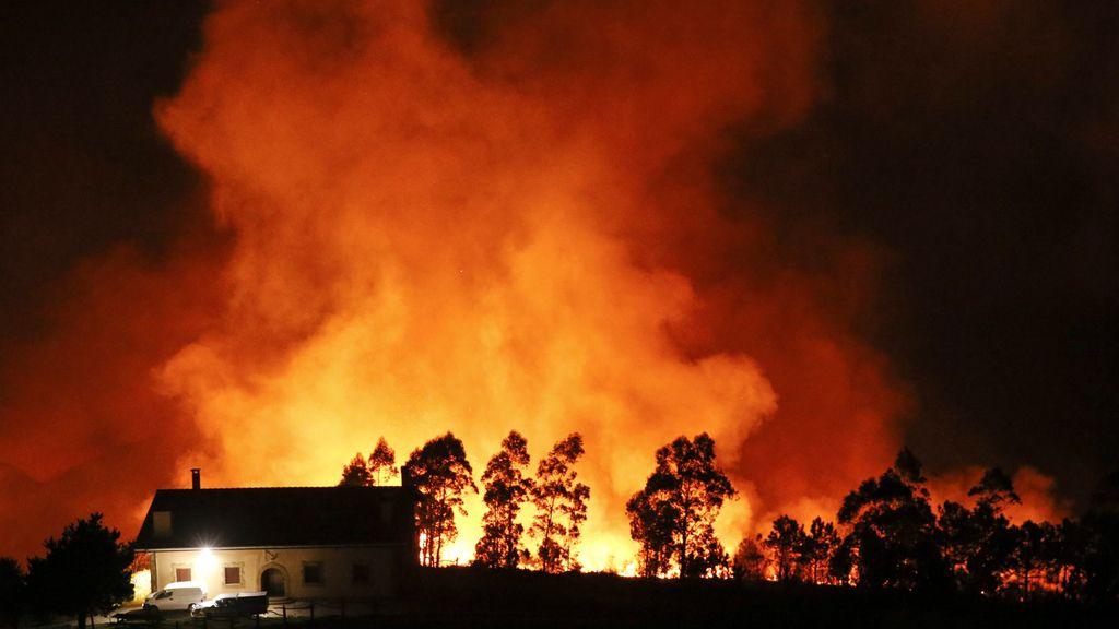 Incendio en el Monte Igueldo