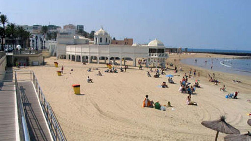 Playa de la Caleta, en Cádiz