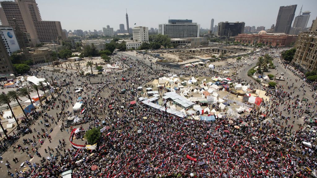 Miles de personas vuelven a llenar la plaza Tahrir. Foto: Reuters