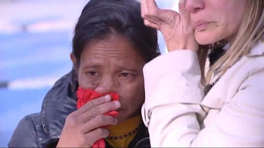 Sonia y Baidigei lloran juntas