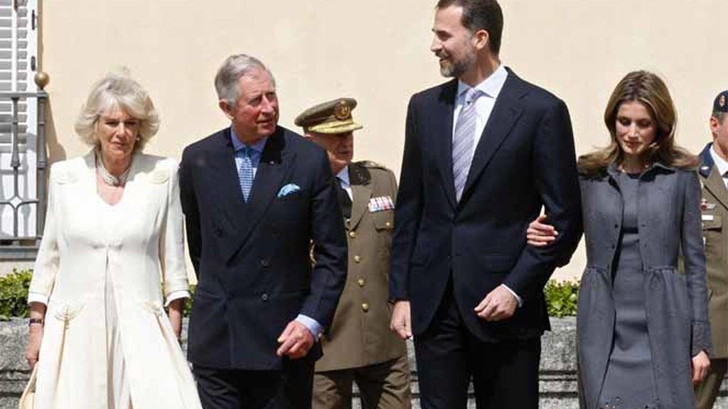 Carlos y Camila visitan España