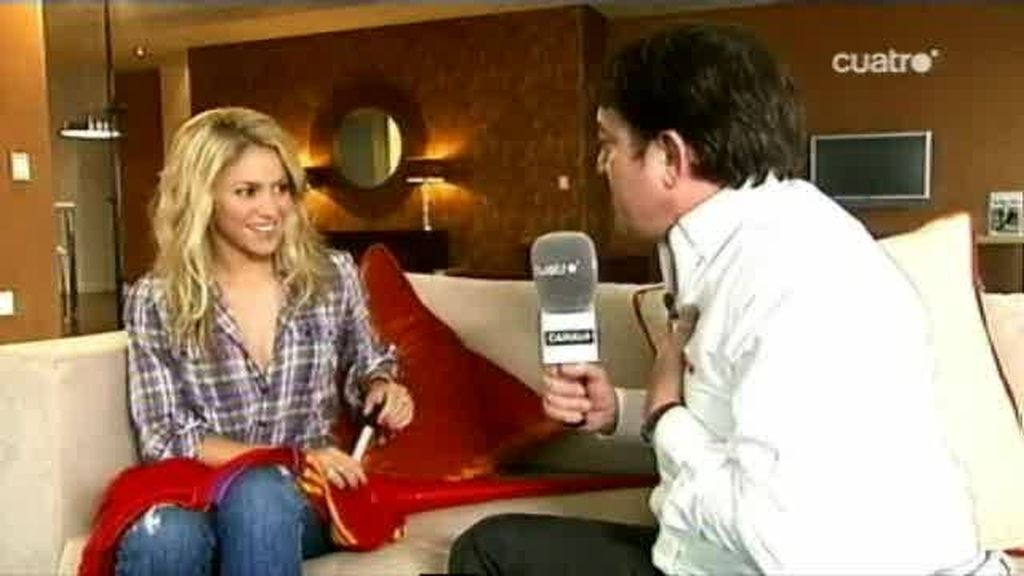 Shakira nos habla de la selección española