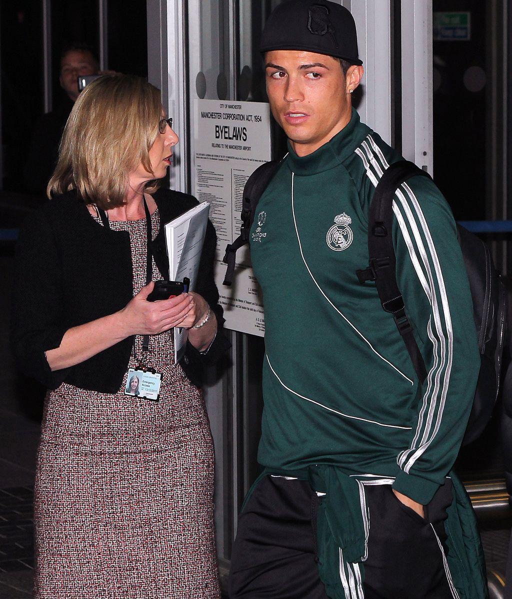 Cristiano Ronaldo a su llegada a Manchester
