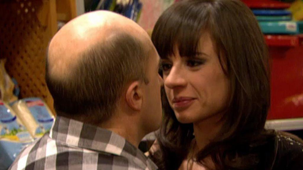 Chema y Soraya: el beso