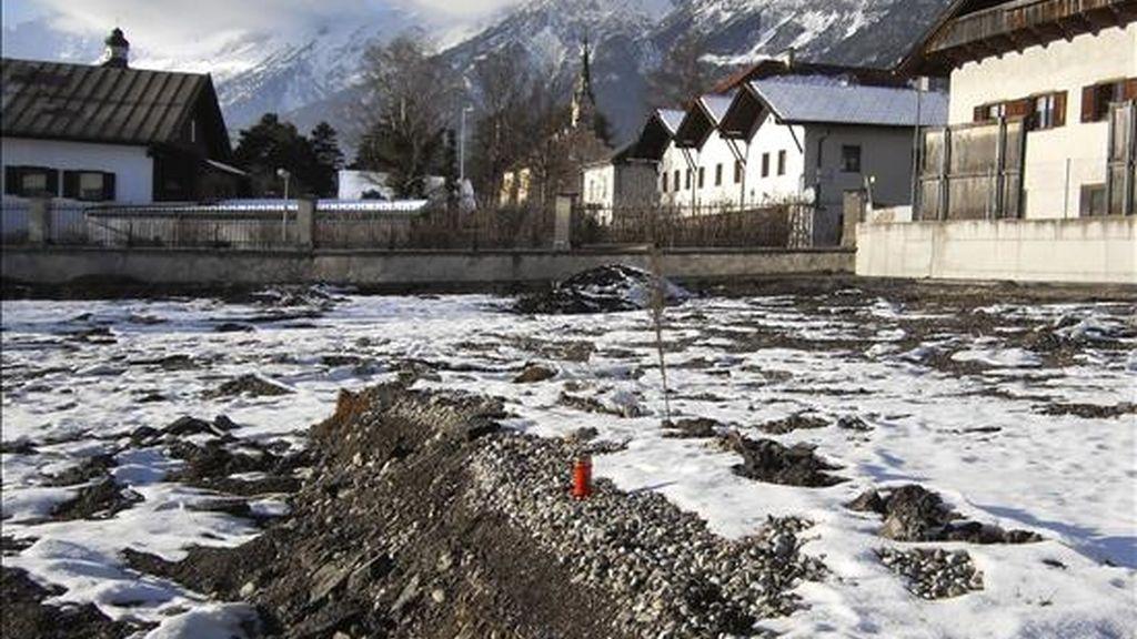 Campo en el que se han encontrado los restos de unas 220 personas, probablemente víctimas del programa de eutanasia del ejército Nazi, en Hall, Austria. EFE