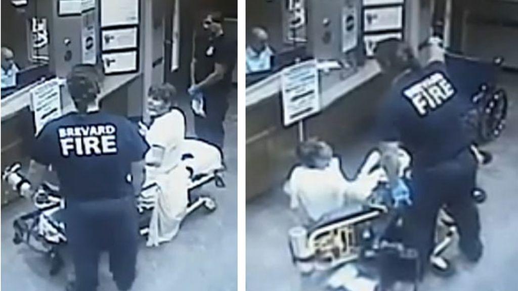 paramédico violento, paciente de cáncer, hospital Florida