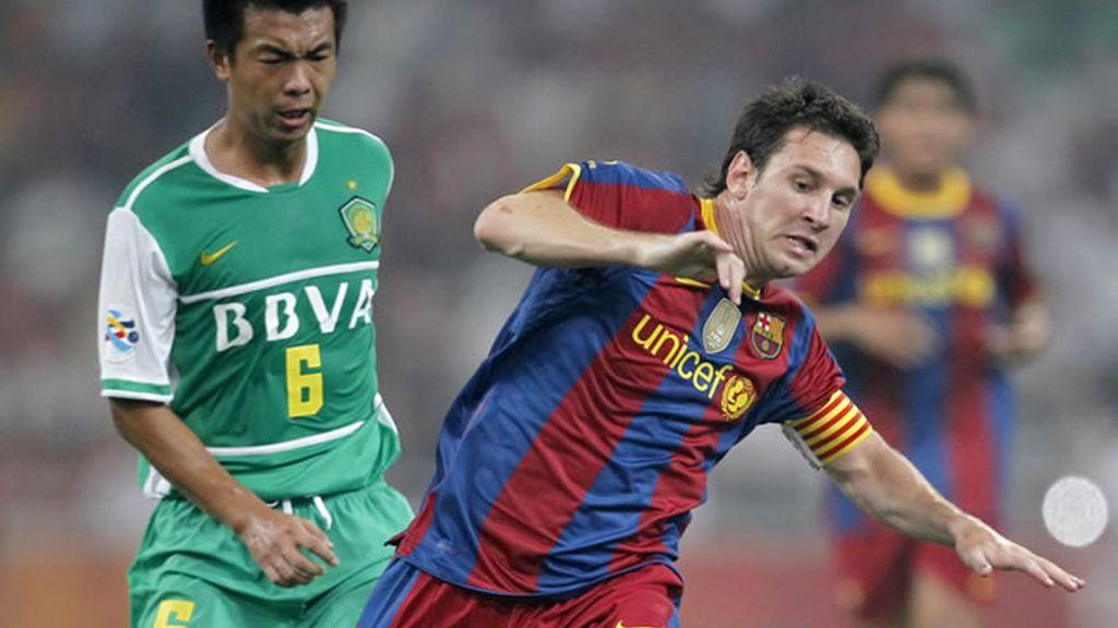 Messi, en partido amistoso