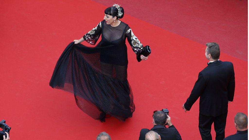 Rossy de Palma deslumbra en la alfombra roja de Cannes