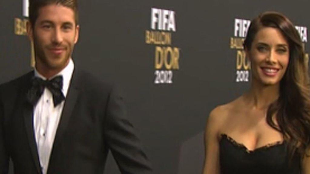 Ramos eligió la gala para confirmar su romance con la presentadora Pilar Rubio