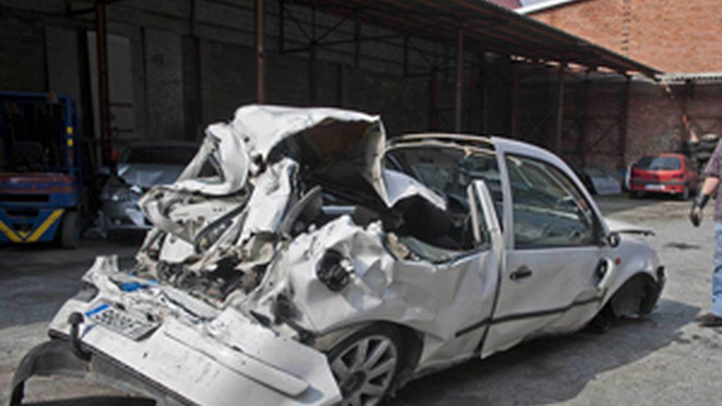 El estado del coche después del accidente
