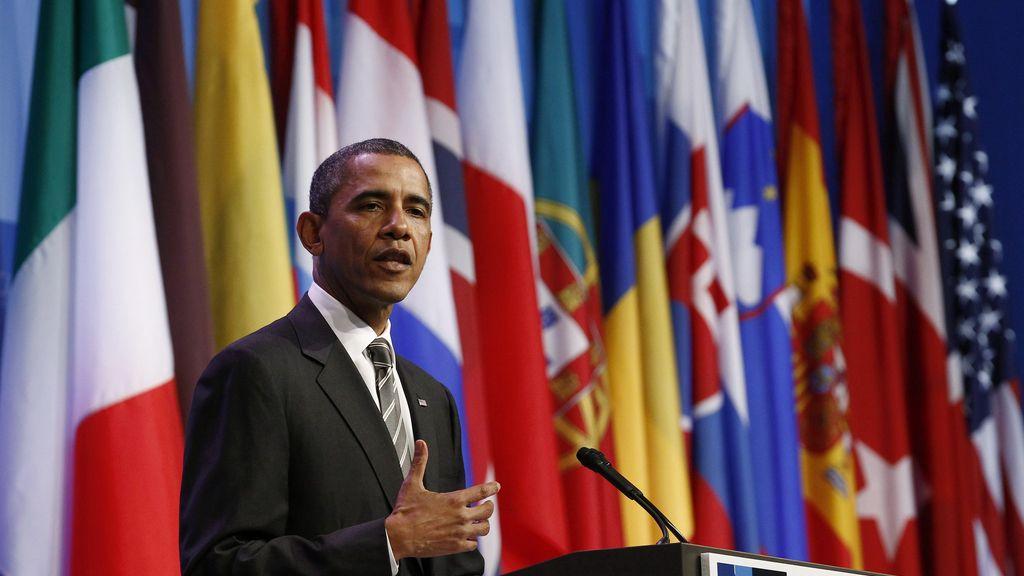 Barack  Obama en la cumbre de la OTAN celebrada en Chicago