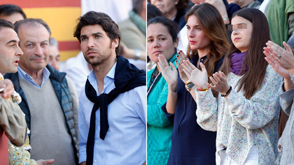 La emoción de su hija, su mujer (embarazada) y su hermano en la Feria de Olivenza