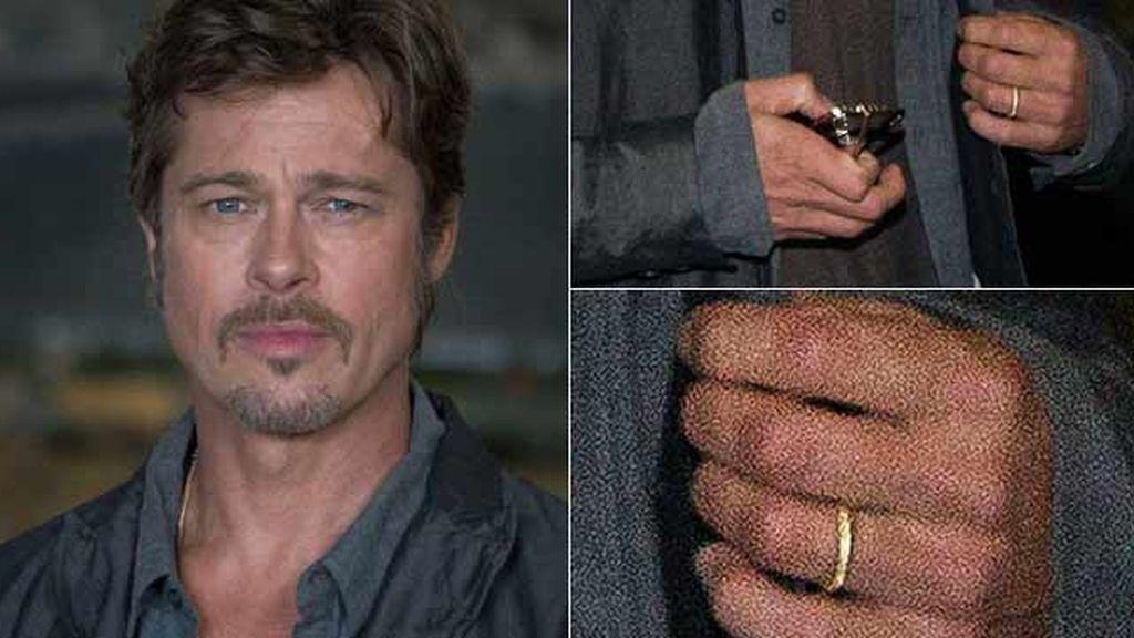 Brad Pitt luce anillo de casado