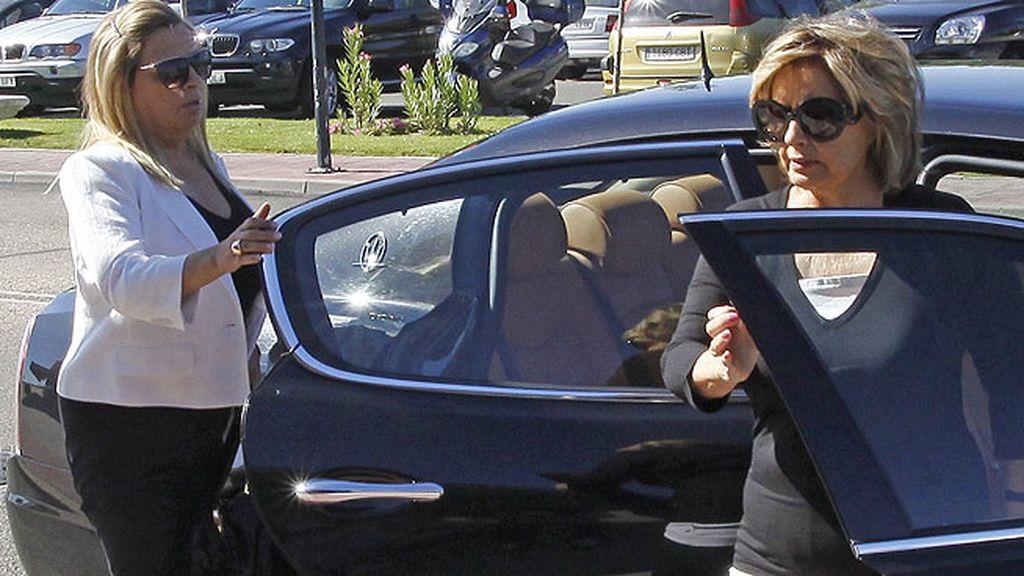 María Teresa Campos en el funeral de su gran amigo Pedro Rodríguez