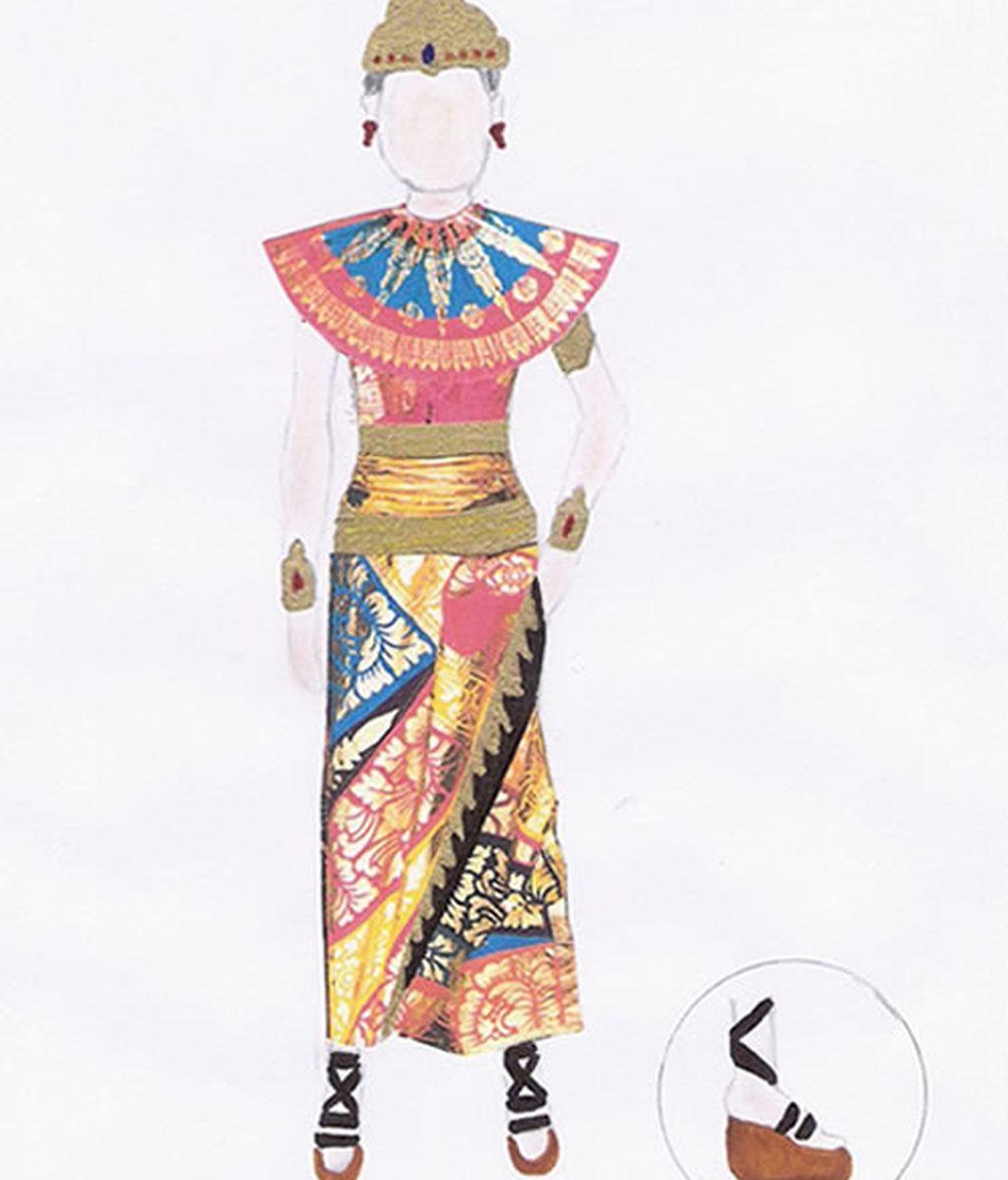 Vestido sandalias japoneas