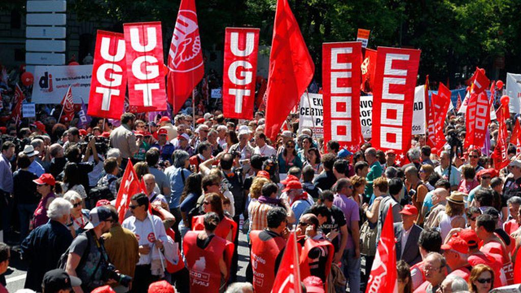 Miles de personas salen a la calle en el Día del Trabajo