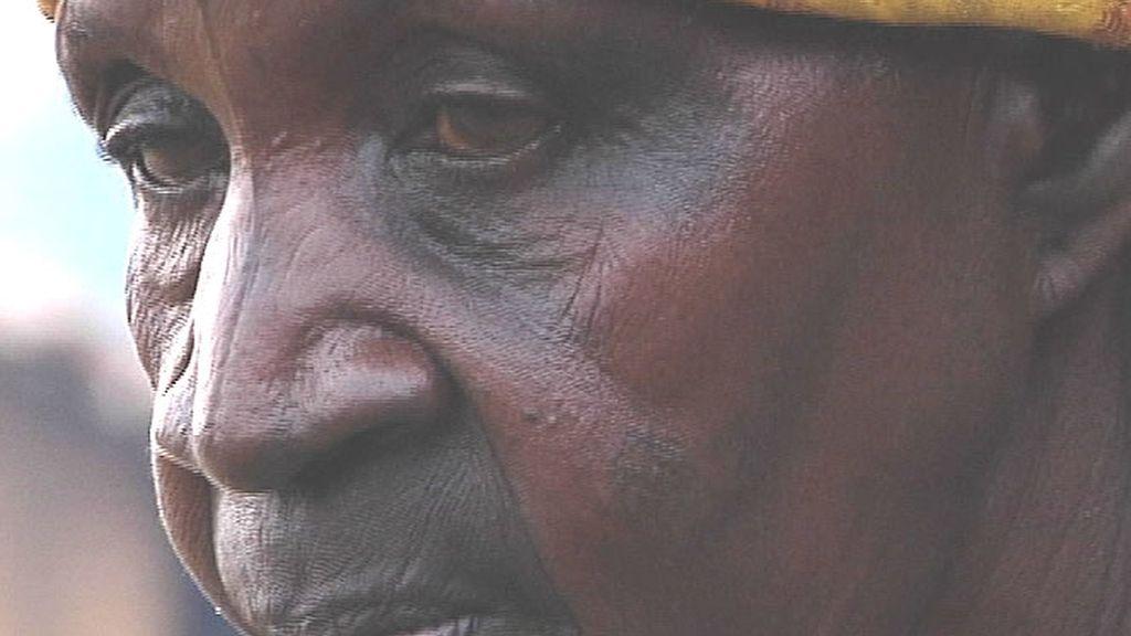 Una mujer congoleña