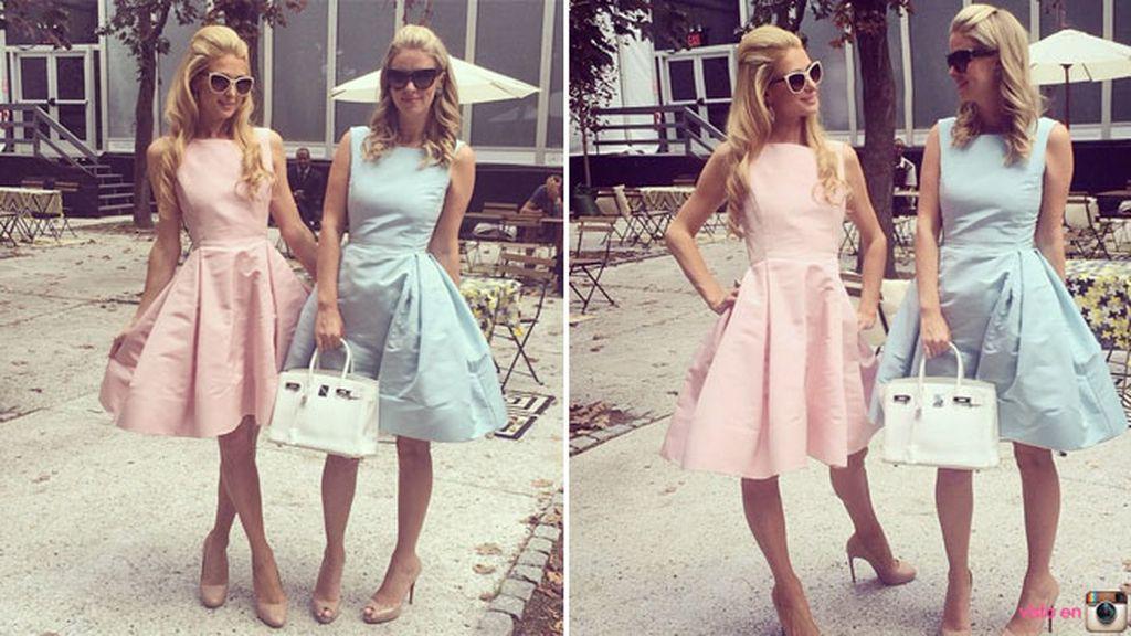 Las hermanísimas Hilton, gemelas de vestido y omnipresentes en la NYFW