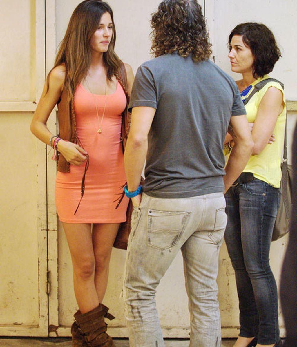 Los jugadores del Fc barcelona con sus novias en el concierto de Shakira