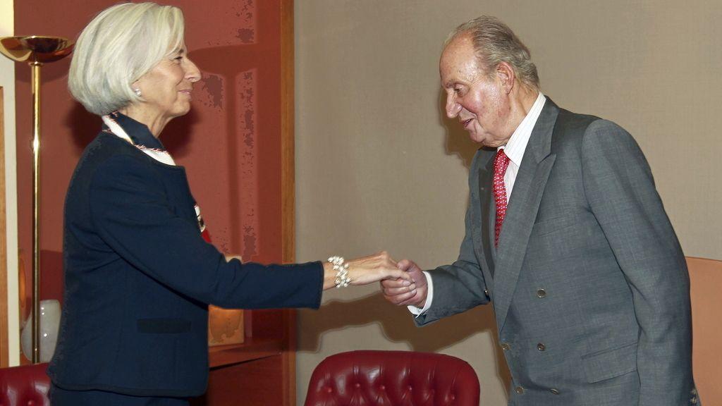 El Rey recibe en audiencia a la directora gerente del Fondo Monetario Internacional (FMI), Christine Lagarde