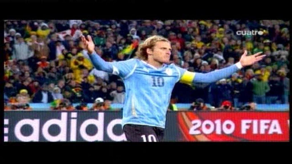 El minuto loco del Uruguay ? Ghana visto por Forlán