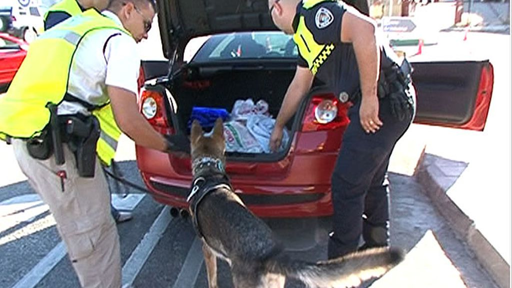 Inspeccionando un coche sospechoso