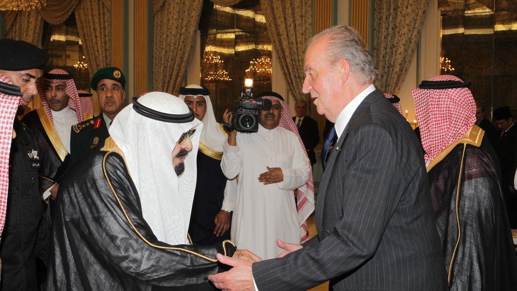 El Rey con su Majestad Abdullah Bin Abdulaziz Al-Saud, Rey de Arabia Saudí