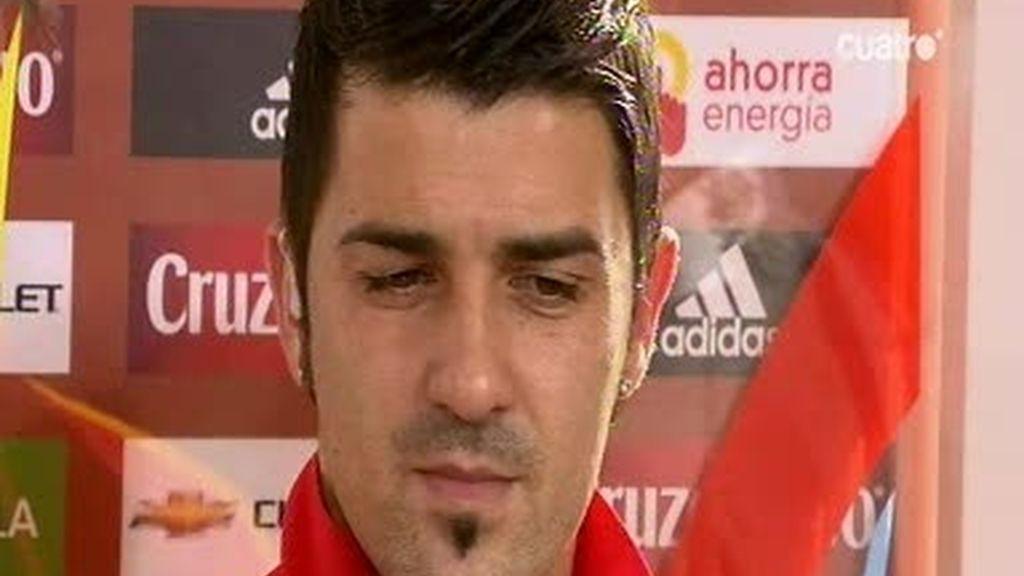 David Villa habla de la actualidad de 'La Roja'