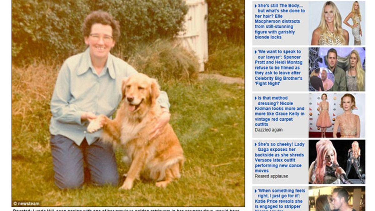 Lynda Hill y su perro Henry