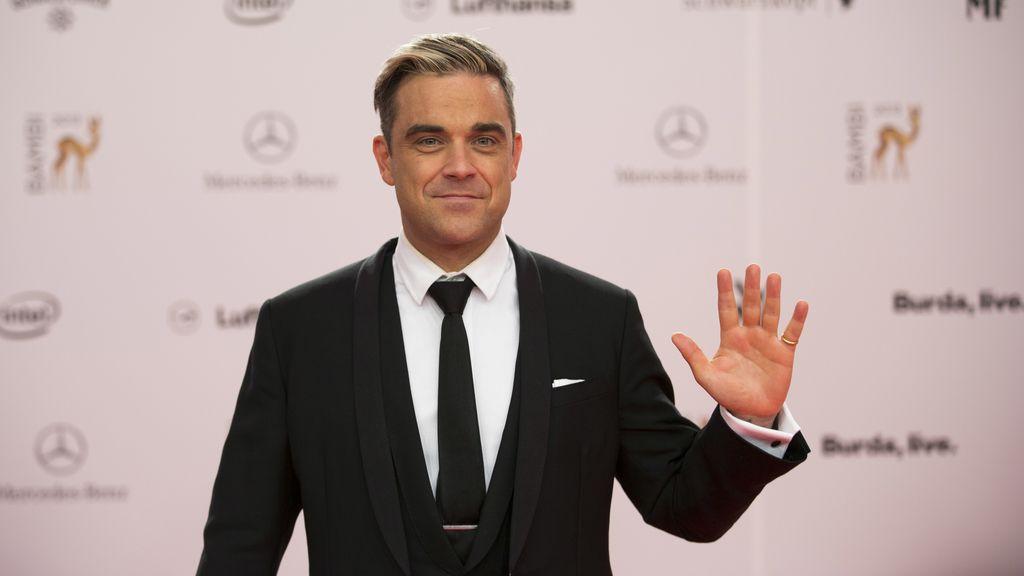 El cantante Robbie Williams a su llegada a los 'Premios Bambi'