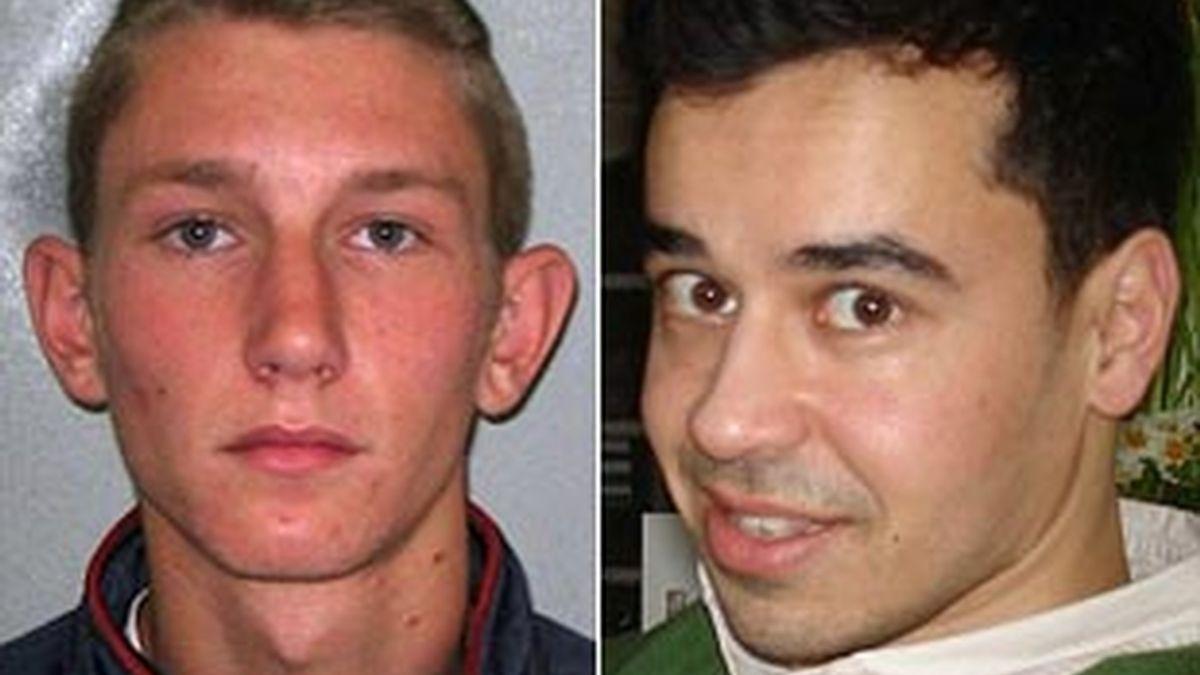 Thomas Connor, a la izquierda, acusado de asesinato y Gulamhuseinwala Nadim, a la derecha, la víctima.