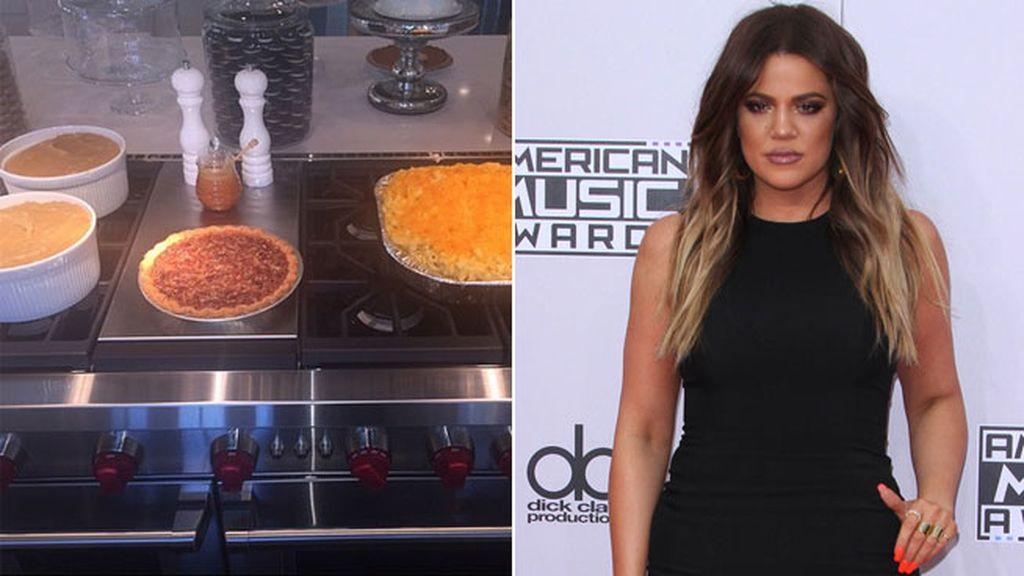 Khloe Kardashian ha preparado su primera fiesta de 'thanksgiving' en su casa