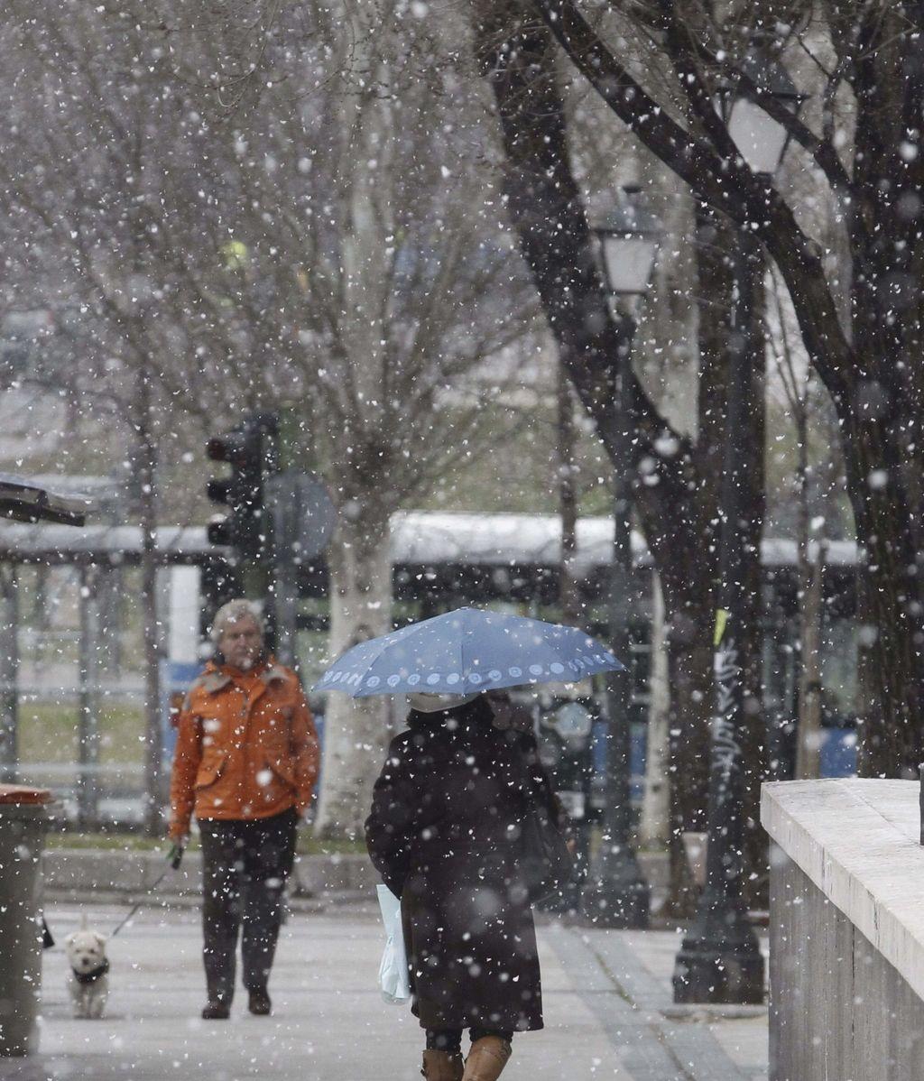 La nieve llega a Madrid