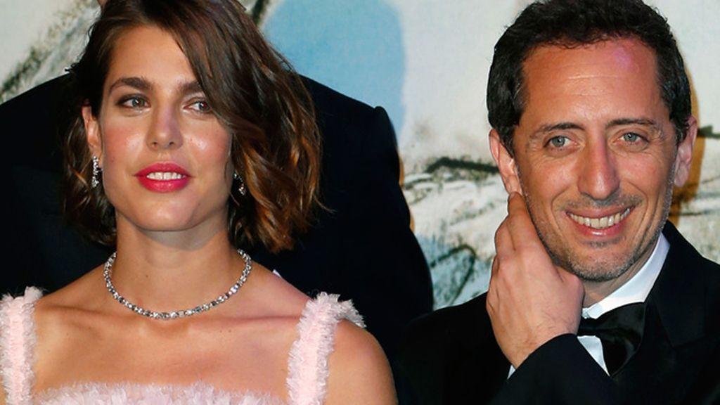 Charlotte Casiraghi y el actor Gad Elmaleh
