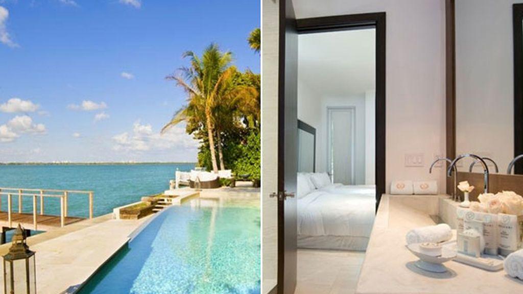 Villa Valentina, un casa con amarre en el jardín, en Miami Beach (Florida, EEUU)