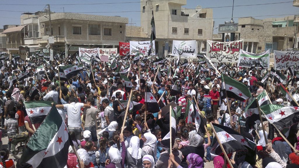 Manifestaciones de protesta contra el régimen de Bachar el Asad