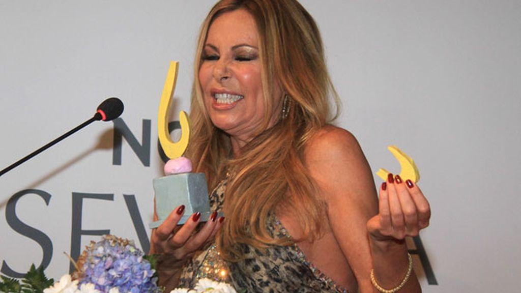 Ana Obregón rompió su premio