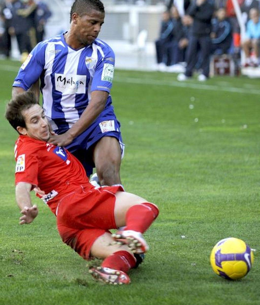 1-0. EL Málaga se aprovechó de un Sporting tocado por las bajas