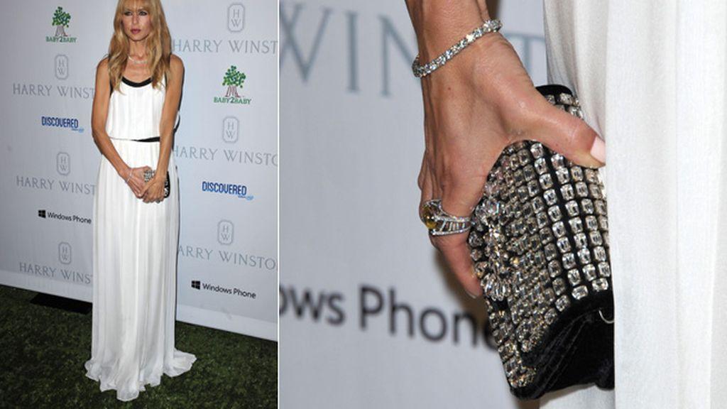 La estilista Rachel Zoe quiso también participar en el duelo de estilo con este espectacular conjunto