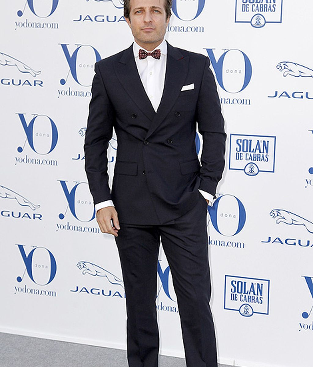 El actor Jesús Olmedo, con pajarita durante la entrega de premios