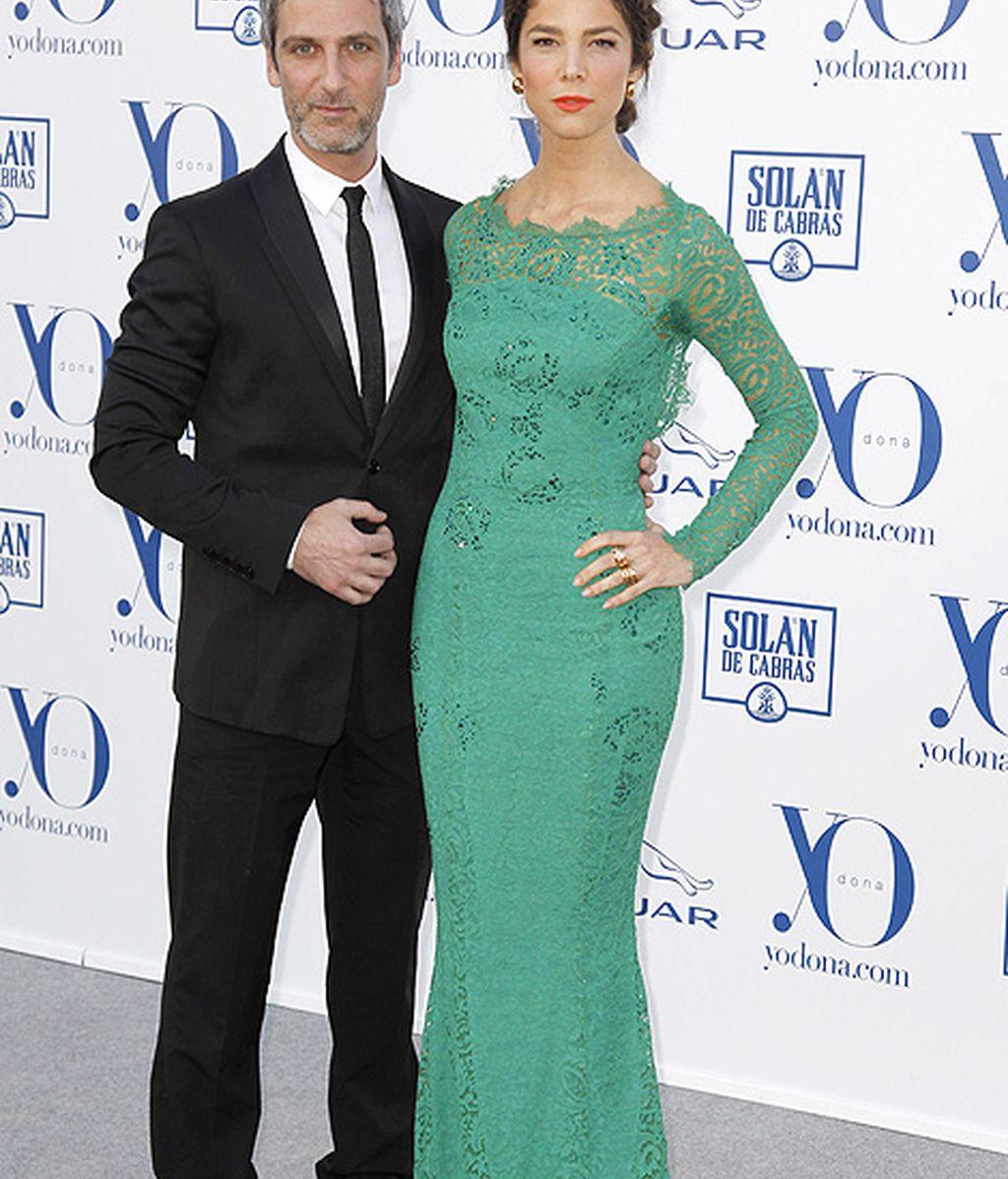 Juana Acosta y Ernesto Alterio, una de las parejas más elegantes de la noche