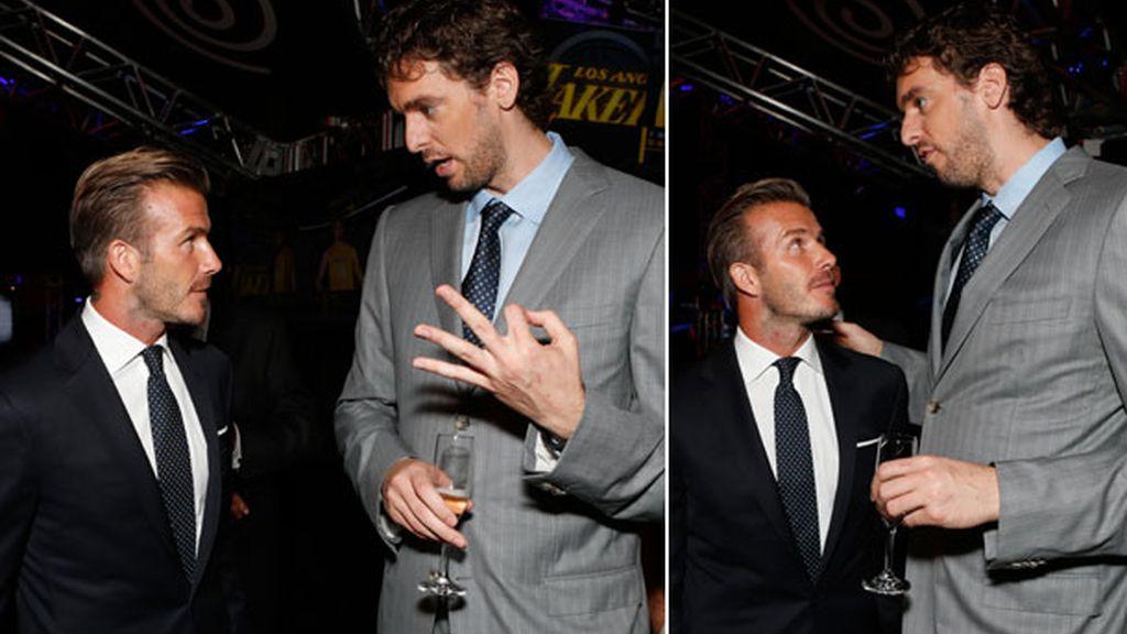 Pau y Beckham, una amistad de altura
