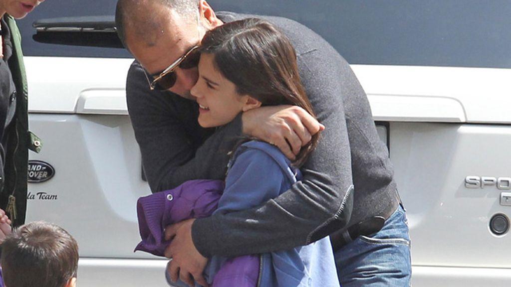 Josep Guardiola con su hija María